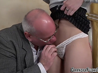Forcible Age Teenager mouths old mans cock