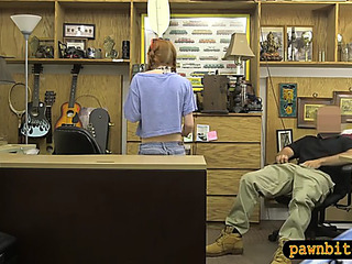 NonProfessional legal age teenager chick sucks gone plus groupfucked by pawnshp owner