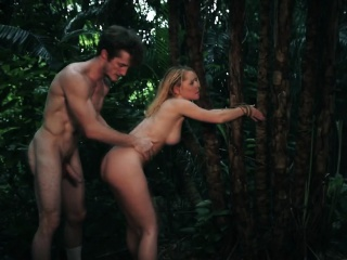 Teen Raylin Ann tied to tree and pounded outdoors