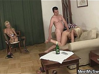 Naughty GF and his family having intercourse