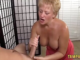 Best Handjob by Granny