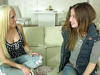 German Teen - 18 Jahre junges Teeny das erste Mal Lesben Sex bei Casting