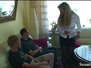 German mother bonks stepson and his school ally