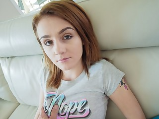 Hot Young Petite Teen Fucked By Uber Serving-woman POV
