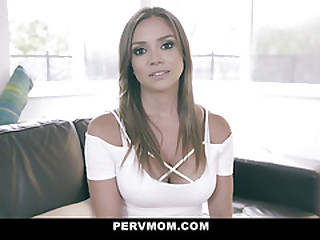 PervMom - Pretty Latina Stepmom Helps Her Stepson To Cum