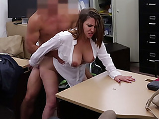 Milf with big bore plus big tits fucked in pawn shop