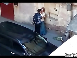 OmaFotze Young guy fucked broad in the beam women on public