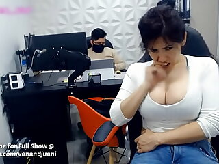 Indian Aunty MILF Violates Work Office Rules by Masturbating At Her Chifferobe